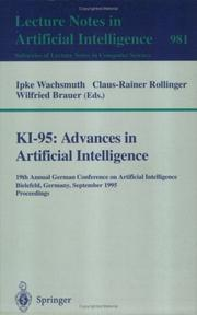 KI-95 by German Conference on Artificial Intelligence (19th 1995 Bielefeld, Germany)
