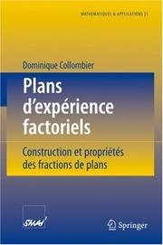 Cover of: Plans d'expérience factoriels