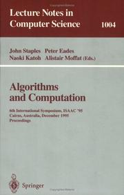 Cover of: Algorithms and Computation: 6th International Symposium, Isaac