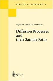 Diffusion processes and their sample paths by Kiyosi Itō