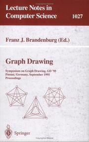 Cover of: Graph Drawing: Symposium on Graph Drawing, Gd '95, Passau, Germany, September 20-22, 1995