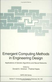 Cover of: Emergent computing methods in engineering design