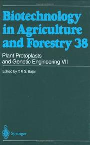 Cover of: Plant Protoplasts and Genetic Engineering VII