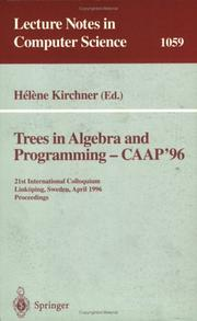 Cover of: Trees in algebra and programming--CAAP '96