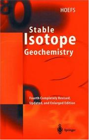 Cover of: Stable isotope geochemistry