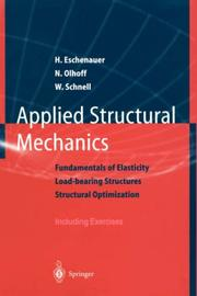 Cover of: Applied structural mechanics