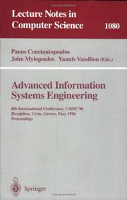 Cover of: Advanced information systems engineering | CAiSE