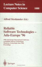 Cover of: Reliable software technologies, Ada-Europe '96