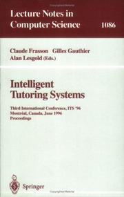 Cover of: Intelligent tutoring systems