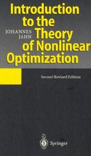 Cover of: Introduction to the theory of nonlinear optimization