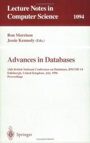Cover of: Advances in databases