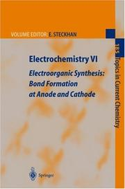Cover of: Electrochemistry VI: Electoorganic Synthesis  | E. Steckhan