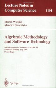 Cover of: Algebraic methodology and software technology