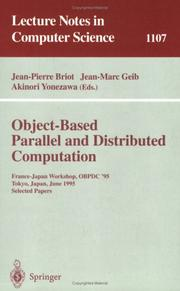 Cover of: Object-based parallel and distributed computation