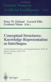 Cover of: Conceptual structures