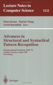 Cover of: Advances in structural and syntactical pattern recognition
