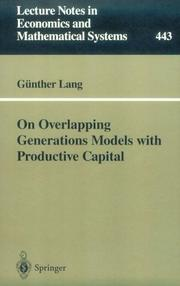 Cover of: On overlapping generations models with productive capital