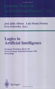 Cover of: Logics in artificial intelligence