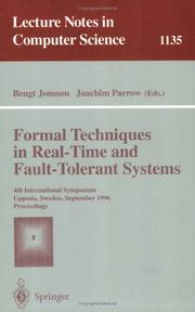 Cover of: Formal techniques in real-time and fault-tolerant systems |