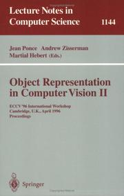 Cover of: Object representation in computer vision II