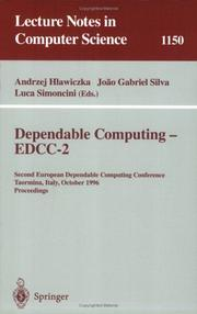 Cover of: Dependable computing--EDCC-2