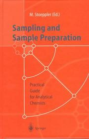 Cover of: Sampling and Sample Preparation | Markus Stoeppler