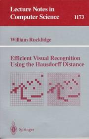 Cover of: Efficient visual recognition using the Hausdorff distance