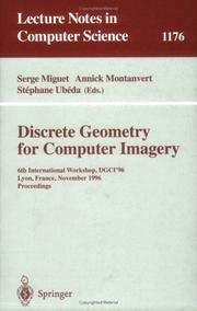 Cover of: Discrete Geometry for Computer Imagery |