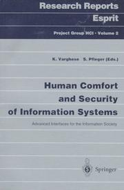 Cover of: Human comfort and security of information systems |
