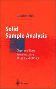 Cover of: Solid Sample Analysis | Ulrich KurfГјrst