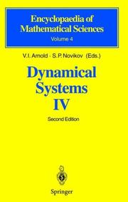 Cover of: Dynamical Systems IV |