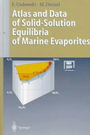 Cover of: Atlas and data of solid-solution equilibria of marine evaporites | E. Usdowski
