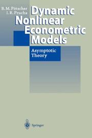 Cover of: Dynamic nonlinear econometric models