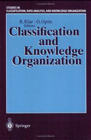 Cover of: Classification and knowledge organization
