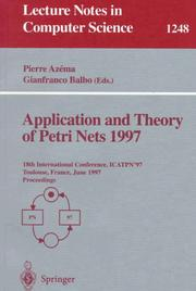 Application and Theory of Petri Nets 1997 by
