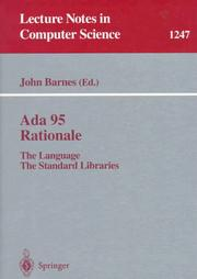 Cover of: Ada 95 Rationale