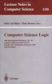 Cover of: Computer Science Logic |