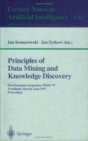 Cover of: Principles of data mining and knowledge discovery | PKDD