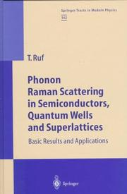 Cover of: Phonon Raman-scattering in semiconductors, quantum wells and superlattices