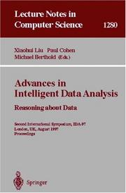 Cover of: Advances in intelligent data analysis
