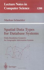Cover of: Spatial data types for database systems