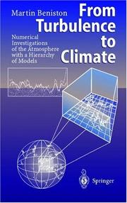 Cover of: From Turbulence to Climate | Martin Beniston