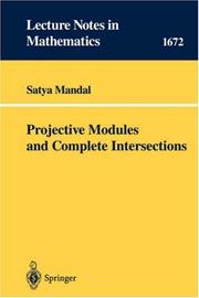 Cover of: Projective modules and complete intersections