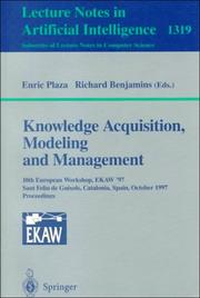 Cover of: Knowledge Acquisition, Modelling and Management: 10th European Workshop, Ekaw