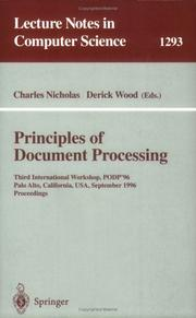 Cover of: Principles of document processing