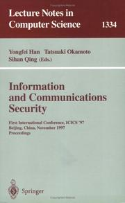 Cover of: Information and Communications Security |