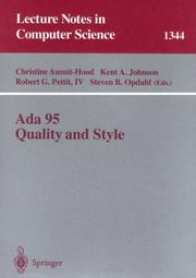 Cover of: Ada 95 quality and style by