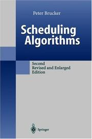 Cover of: Scheduling algorithms | Peter Brucker