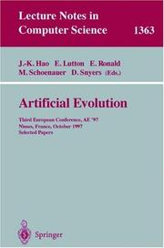 Cover of: Artificial evolution | AE '97 (1997 Nîmes, France)