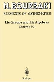 Elements of Mathematics: Lie Groups and Lie Algebras Chapters 1-3